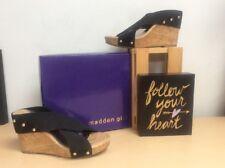 1b7c49ba726 MADDEN GIRL (Naudic) Women s Black OpenToe Platform Wedge Sandals Size 8M  NWOB