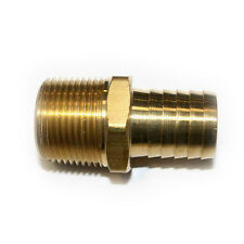 """Brass Hose Barb Fitting, Connector, 1"""" Barb X 1"""" NPT Male End - FM99-9"""