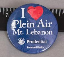 I Love Plein Air Prudential Realty Advertising Pin Pinback Button Badge (g25)