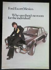FORD ESCORT MEXICO MK1 orig 1973 UK Mkt Sales Brochure