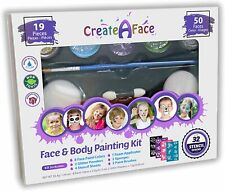 CreateAFace Face&Body Painting Kit - 19 pieces, 50 faces