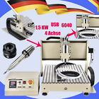 USB 4 Axis 6040 CNC Router Engraver Carving Machine Metal Cutter 1.5KW DHL