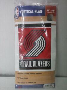 "NBA Vertical Flag Portland Trail Blazers 28""x40"" New!"