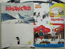 BURTON snowboard 2 sided 2010 RESTRICTED promo poster New Old Stock Mint Cond