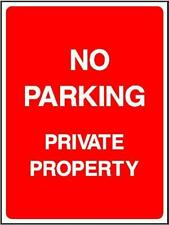 No Parking, Outdoor Warning Sign, 3mm composite sign, self adhesive sticker P22