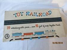 Vintage 38 Piece Tot Railroad Teach-A-Tot Children's Plastic Train Set