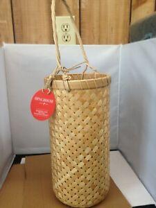 "18.5"" x 6"" Bamboo Hanging Basket Natural - Opalhouse"