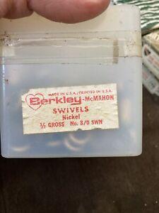 Vintage nickel barrel swivel size 8, 1/2 Gross, 72 count berkley brand