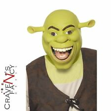 Adulto Máscara de Cabeza Completa Látex con licencia Shrek Fancy Dress Costume Accesorio Nuevo