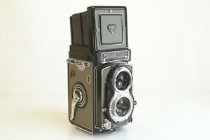 Rollei Rolleiflex T (Type 1) Gray Camera w/ Tessar 75mm F3.5 Lens & Case As Is
