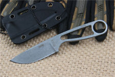 Camping Stone wash Fixed knife D2 Blade 58HRC Pocket Sharp Saber With Sheath EC