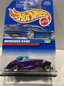 Hot wheels HW Mercedes 540K Purple collector #788 SEALED UNOPENED VHTF