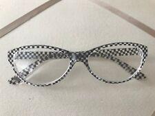 Betsey Johnson Readers +1.50 Cat eye Frames X Checkered Reading Glasses