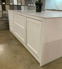 7 foot long island with countertop Neolith Carrara opaque finish.