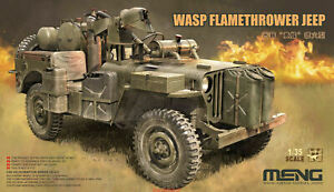 Meng 1/35 Scale - MB Military Vehicle Wasp Flamethrower Jeep Model Kit VS-012