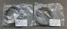 2 x New Fibre Optic Cable 10M ST To LC 0M1 62.5/125 Multimode Deplex Grey