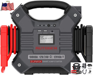 ⚡AUTOGEN 10000A 12V/24V Heavy Duty Jump Starter 42000mAh Booster Charger Box