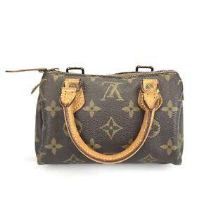 100% authentic Louis Vuitton mini Speedy M41534 handbag used 163-3-z@1