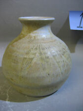 1990s handmade by LS pottery vase