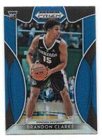 Brandon Clarke Rookie 2019-20 Prizm Draft Picks BLUE #86 Memphis Grizzlies SP RC