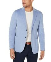 Michael Kors Mens Sport Coat Blue Size 44 2-Button Notch-Collar $295 #205