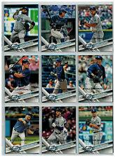 18 x Baseballcards 2017 Topps All-Star Game Silver Tampa Bay Devil Rays Team Set