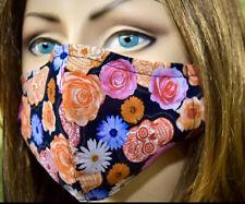 Sugar Skulls Frida Kahlo, Flowers. Face mask.