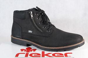 Rieker 35331 Men's Ankle Boots Echtledertex Black New