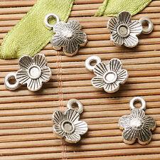 30pcs dark silver color flower design charms  EF2823