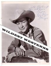 Rare ROY ROGERS to ROY BARCROFT Vintage Original Signed Photo Autograph Trigger