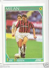 RARE '92 SCORE CARD OF DUTCH 'MARCO VAN BASTEN' WITH AC MILAN - ITALY IN NM/M