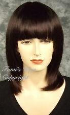 En capas Recto Peluca En Color Marrón Oscuro De Fumi Wigs Reino Unido
