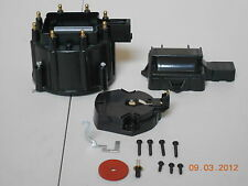 New HEI Distributor Cap, Coil Cover & Rotor Kit BLACK GM-CHEVY-PONTIAC-OLDS-FORD