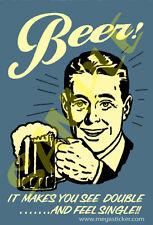 Beer #04 Antique Sign Art Toolbox Refrigerator Magnet