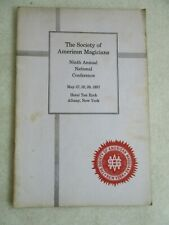 1937 The Society Of American Magicians Ninth Annual National Conference Pamphlet