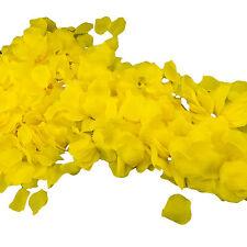 1000pc Yellow Silk Flower Artificial Rose Petals Wedding Aisle Decorations