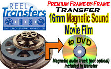 Convert 16mm film WITH MAGNETIC SOUNDTRACK to DVD