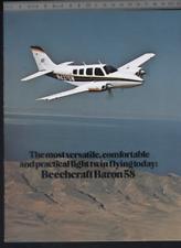 (192) Brochure aviation Aircraft Beechcraft Baron 58