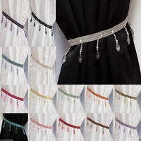 Crystal Beaded Curtain Tie Back Single (All Colours) - Matching Swags Available