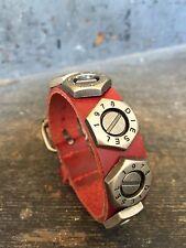 Punk Cool Men Women's Genuine Leather Belt Bracelet Cuff Wristband Bangle USA