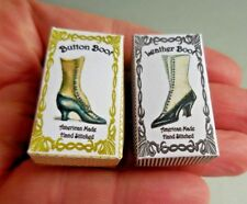 DOLLHOUSE MINIATURE ~ 2 LADY'S BOOT BOX KITS ~ by LORRAINE SCUDERI