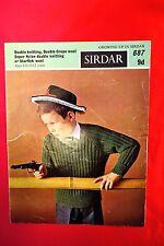 Vintage Knitting Pattern Sirdar DK /Starflek  No 687  boys  6/8--10/12 years