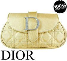 100%AUTHENTIC RARE DIOR COUTURE Jadore BEAUTY MAKEUP TRAVEL Clutch GOLD CASE BAG