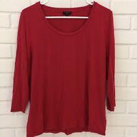 Talbots Petites Womens Pink Long Sleeve Shirt Crewneck Top Size XL