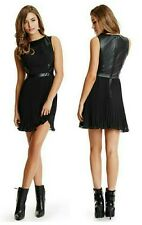 💋❤ GUESS By Marciano Trinies Faux Leather Flirt Dress 💋❤