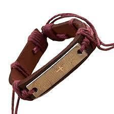 3 pcs/set Brand Fashion Vintage Bible Cross Leather Bracelets Men and Women