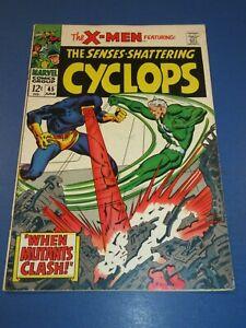 Uncanny X-men #45 Silver age Quicksilver Avengers Key crossover Fine- Wow
