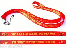 VIP Quality satin lanyard, neck strap ideal for mobile id keys mp3 Usb