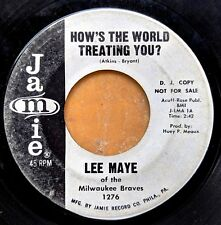 SOUL 45 by BASEBALL STAR LEE MAYE of the Milwaukee Braves 1964 promotional copy