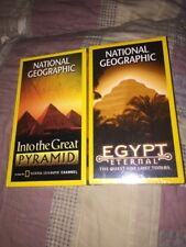 Lot Of 2 National Geographic VHS Egypt Eternal & Into The Great Pyramid NEW